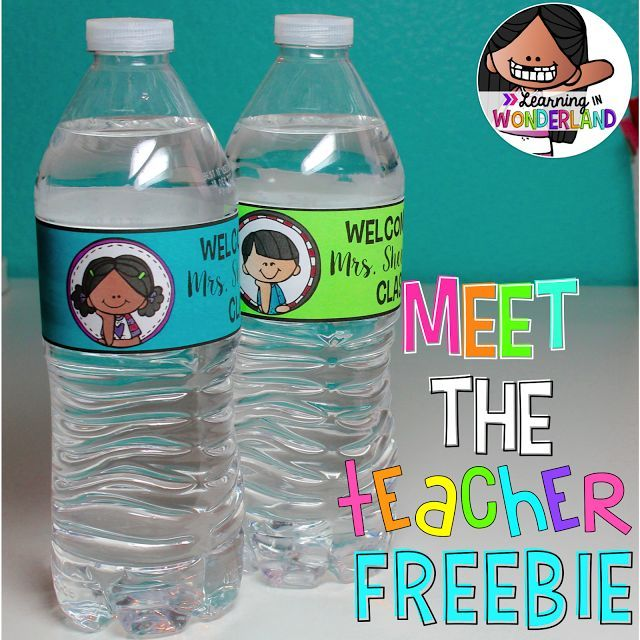 Water Bottle Labels Plus A Freebie  Teacher Bottle And Met