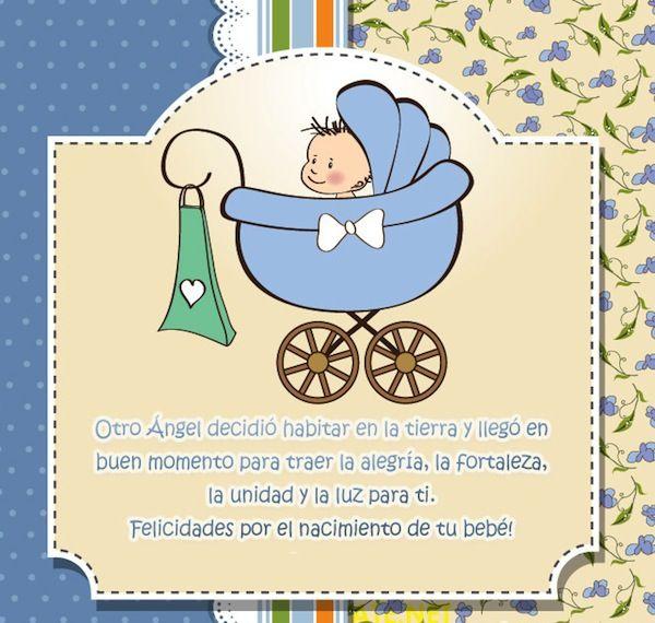 Tarjetas De Felicidades Por El Bebe 7 Jpg 600 570 Felicitaciones Por Tu Bebe Felicitaciones Nacimiento Nacimiento De Ninos