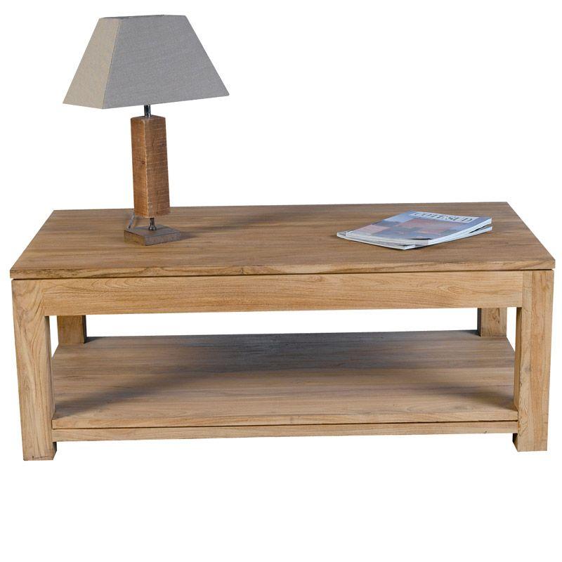 table basse rectangulaire mahina