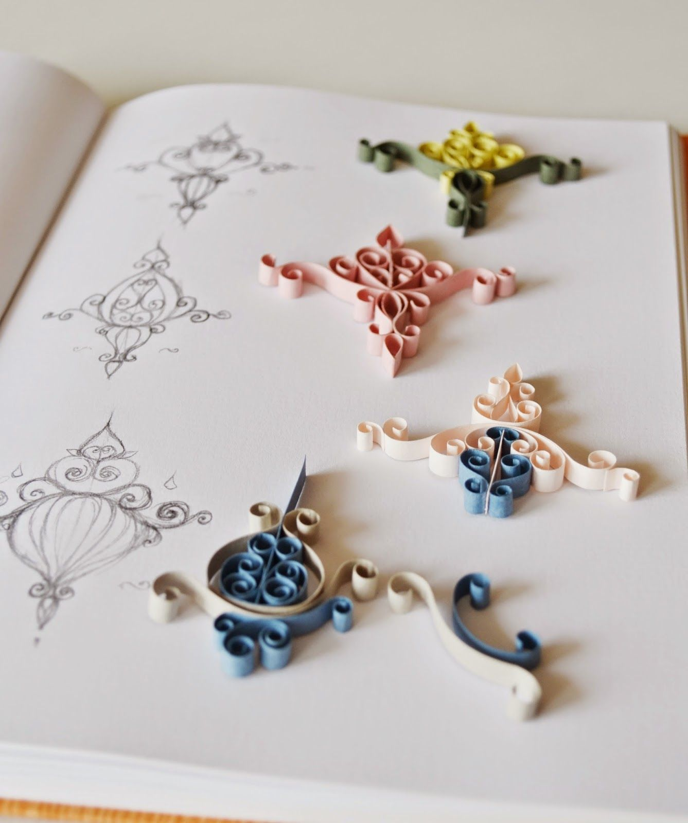 This week I\'ve been working on a set of quilling designs inspired by ...