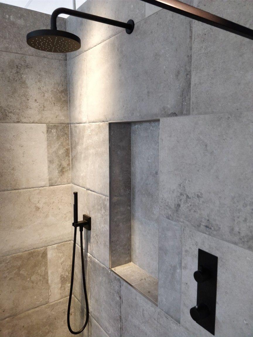 Badkamer Kraan Zwart.Mat Zwarte Kranen Badkamer Rustieke Betonlook In 2019 Badkamer