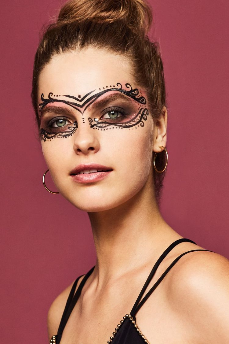 Karneval Maske Schminken 3 Ideen Mit Anleitung Tribales Make Up