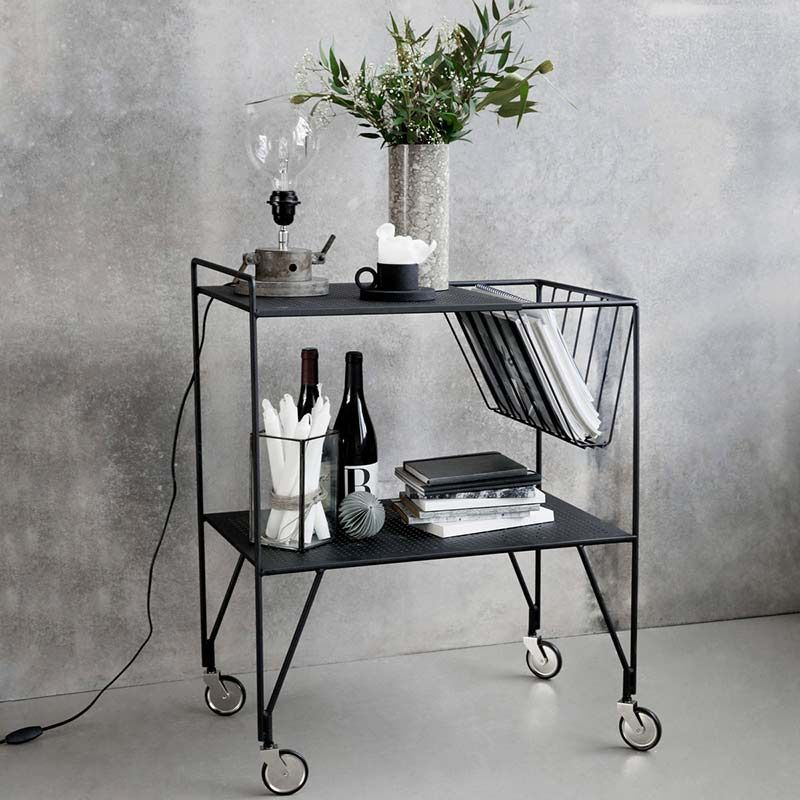 servierwagen trolley use matt schwarz von house doctor 249 00 house doctor pinterest. Black Bedroom Furniture Sets. Home Design Ideas