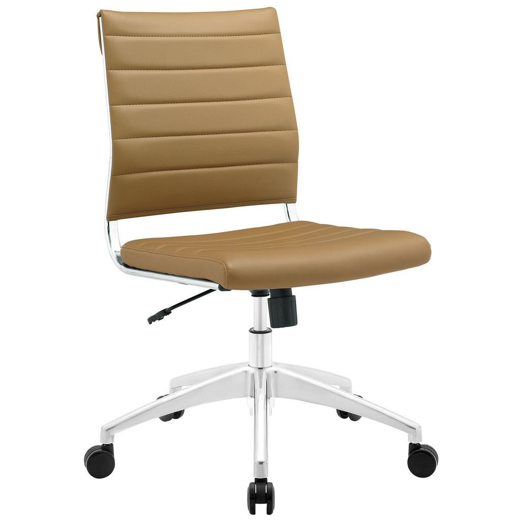 Jive Mid Back Armless Office Chair In Tan Contemporary