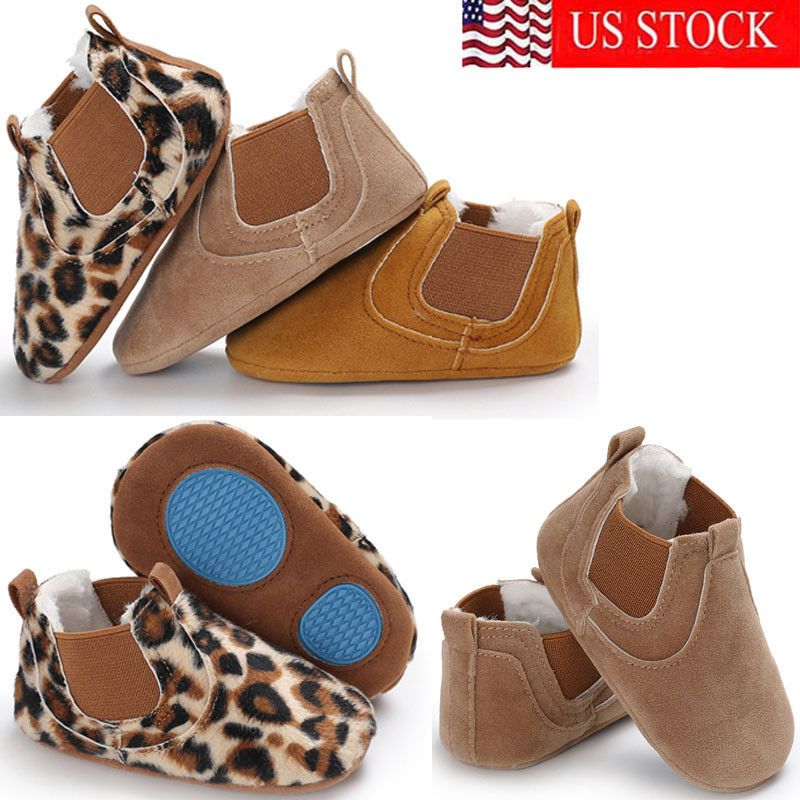 Baby Kid Toddler Soft Sole Leather Anti-slip Shoes Infant Boy Girl Fashion Shoes