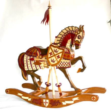 Woodworking plan and patterns for a Carousel Armor horse