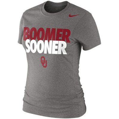 Nike Oklahoma Sooners Ladies Boomer Sooner 2013 Local T-Shirt - Ash. #oklahoma #ou #sooners