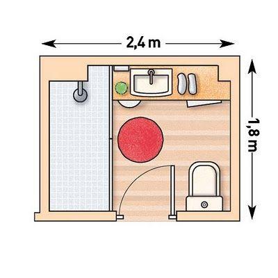 Planos para cuartos de baño pequeños 3 | Badezimmer | Pinterest ...