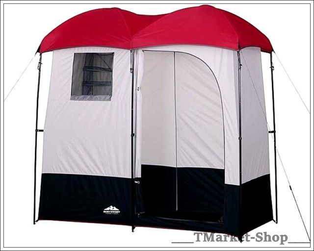 Double Camping Shower Room Changing Shelter Privacy Portable Tent