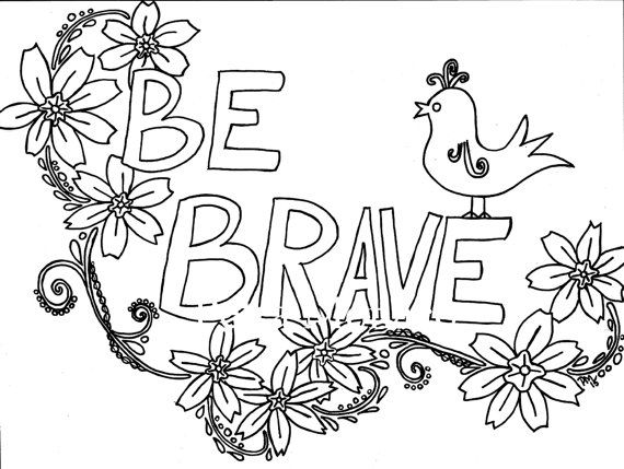 Positive Affirmations Coloring Pages Printable Coloring Pages, Positive  Affirmations, Brave