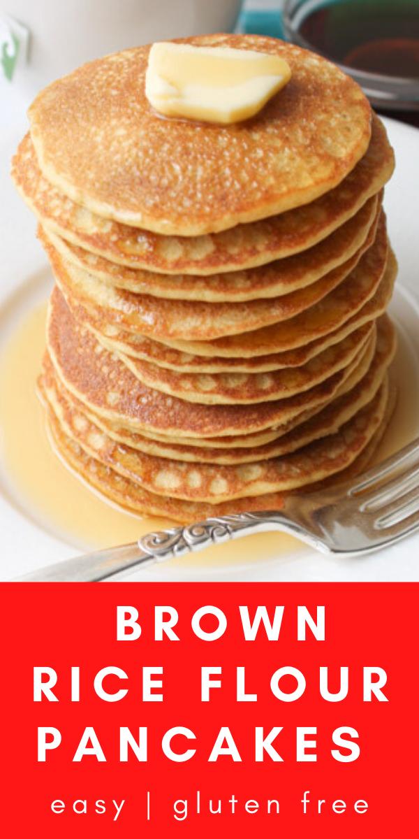 Healthy Brown Rice Flour Pancakes - Healthy breakfast ...