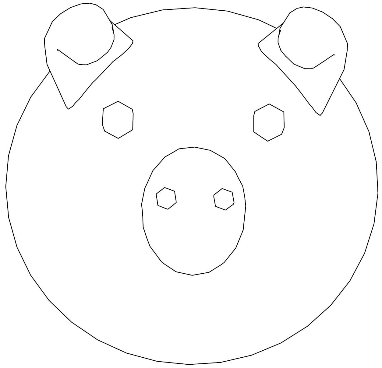 Awesome Pig Face Coloring Page Cartoon Coloring Pages Coloring Pages Flower Coloring Pages