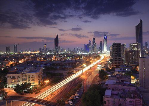 Kuwait City Skyline View With Clouds Kuwait City City City Skyline