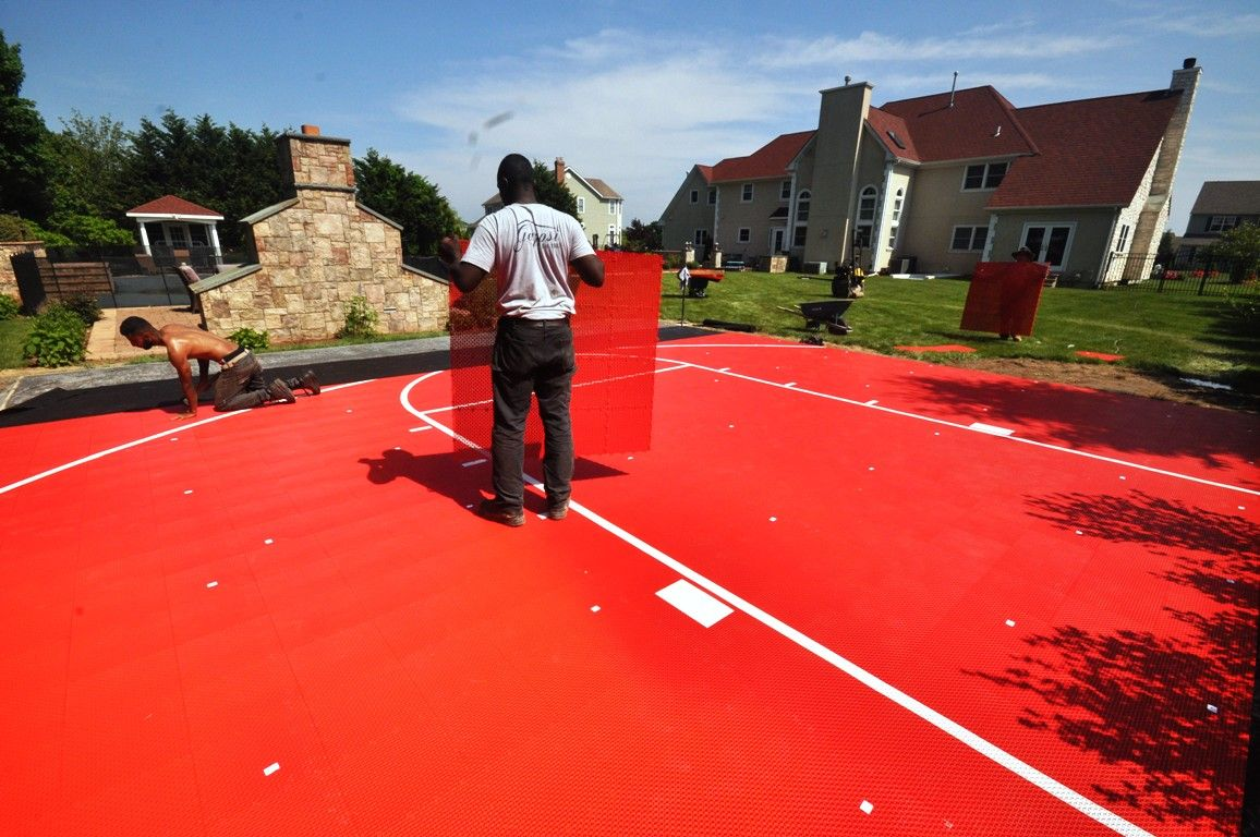 Basket Ball Court Out Bounces Netting Built In Moriches Ny By Gappsi