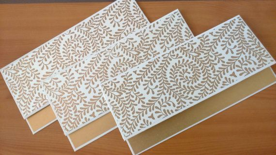 Money Envelopes Set Of 5 Gold And White Money Holders