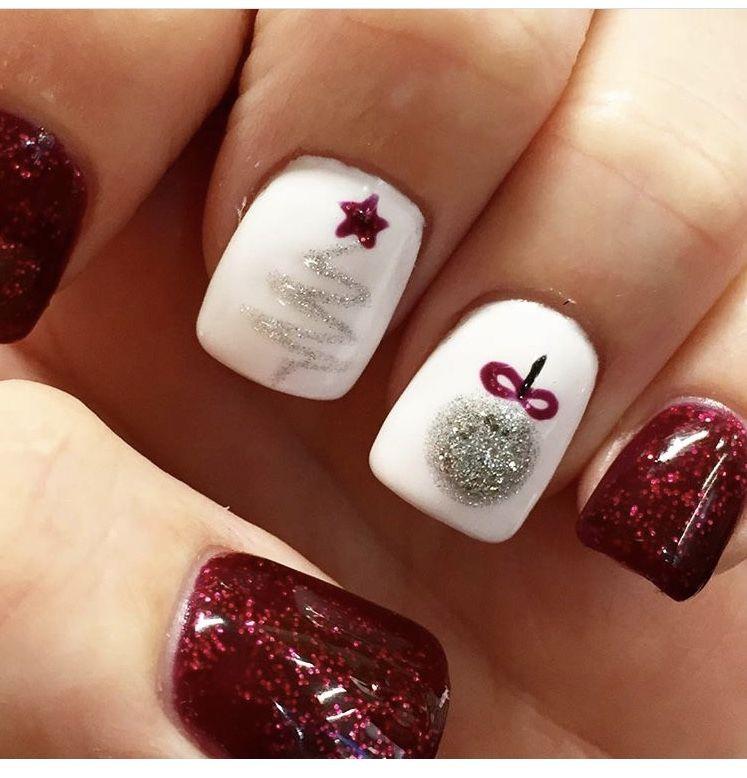 winter nails. xmas fun design