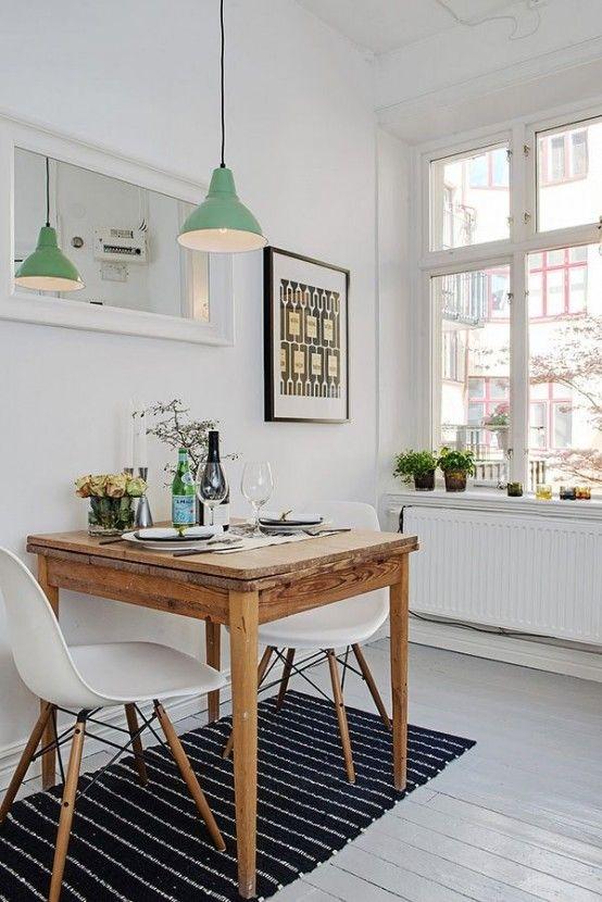 19 peque os y encantadores comedores spaces small for Salas y comedores modernos para espacios pequenos