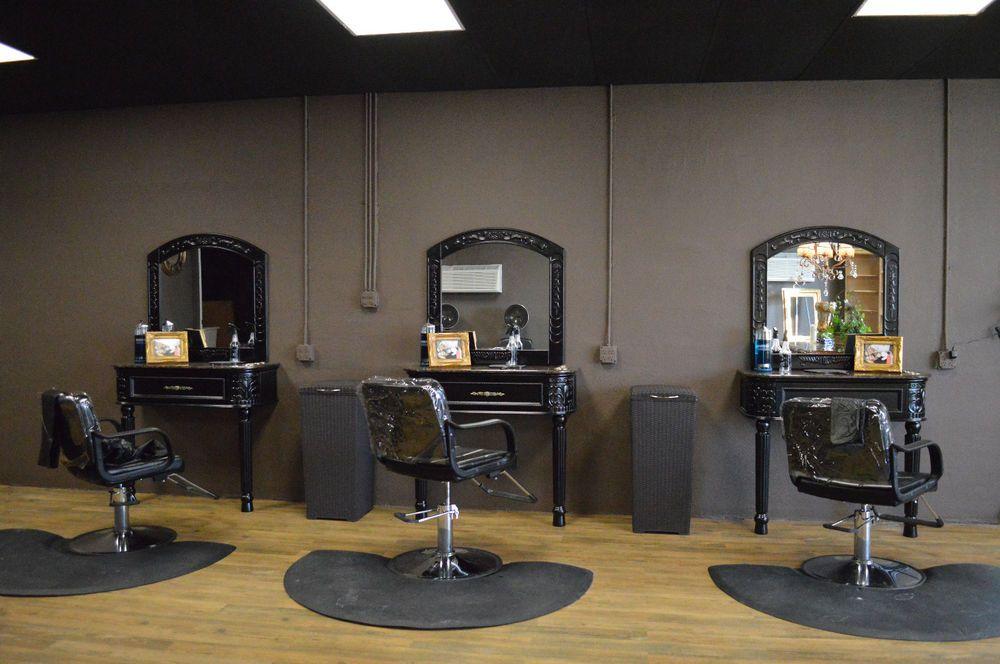 Salon Furniture Black Minerva And Stylist Station