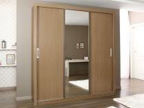 2110dd06e Guarda-Roupa Casal 3 Portas de Correr com Espelho - 2 Gavetas - Demóbile  Residence