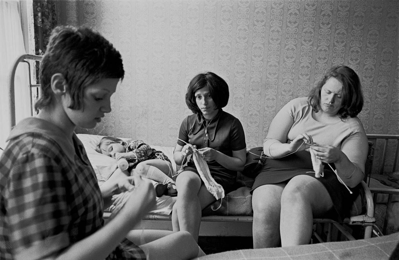 Young mothers in a liverpool hostel for unmarried mothers 1969