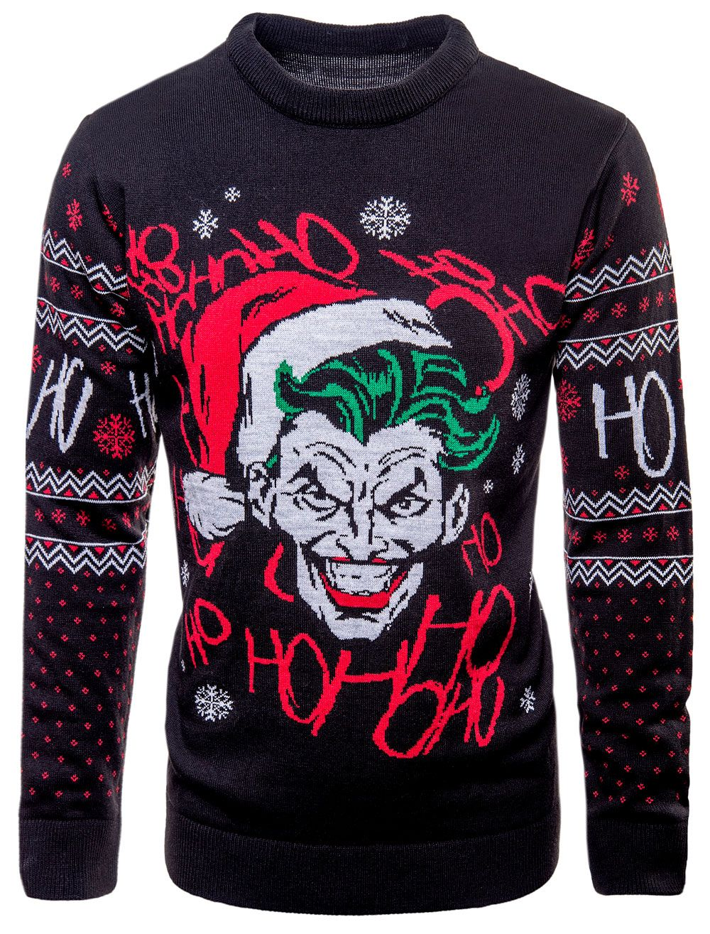 6091f775fb0 Batman  Jo Jo Jo-ker Christmas Knitted Jumper