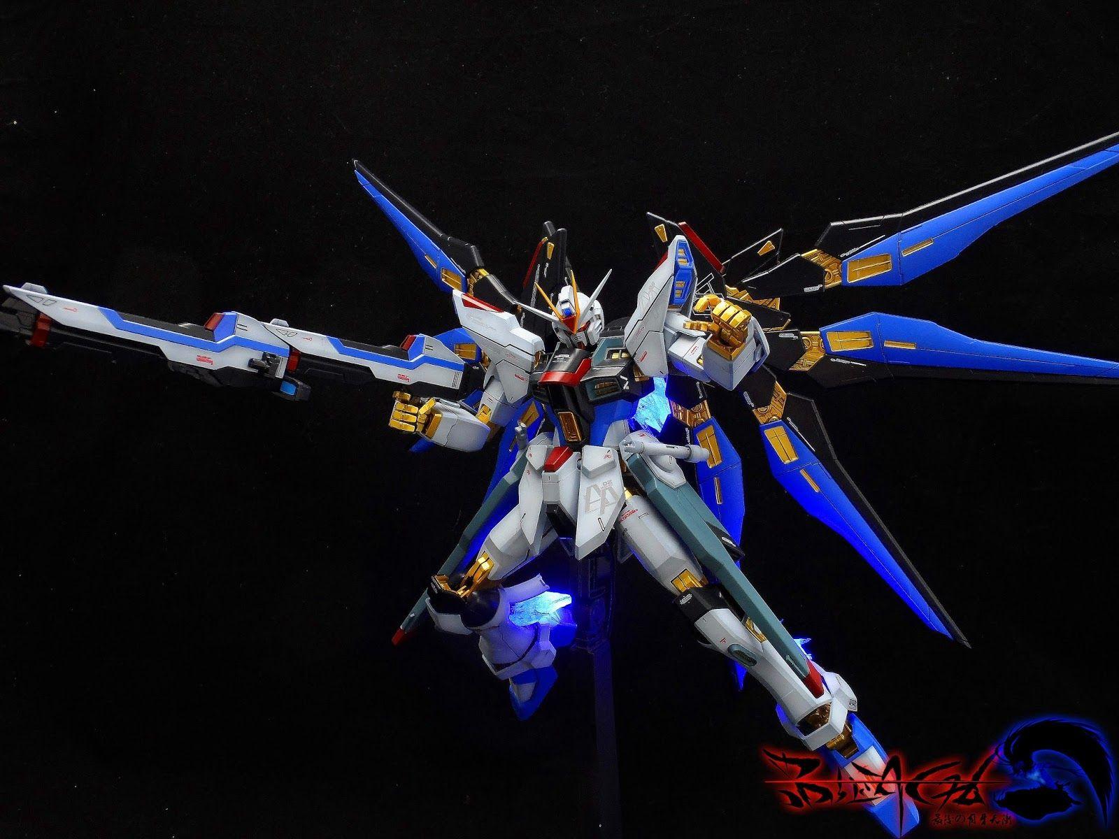 Gundam Guy Mg 1 100 Strike Freedom Gundam Customized Build W Led Gundam Freedom Strike