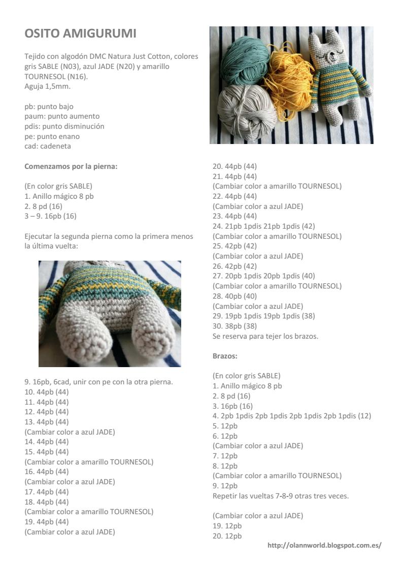 Página 1 de 2   amigurumi&crochet   Pinterest   Patrones amigurumi ...