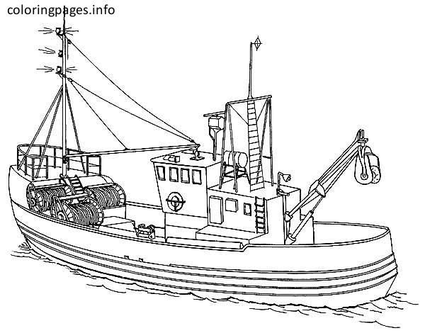Fishing Boat Coloring Pages Coloring Pages Boat Fishing Boats