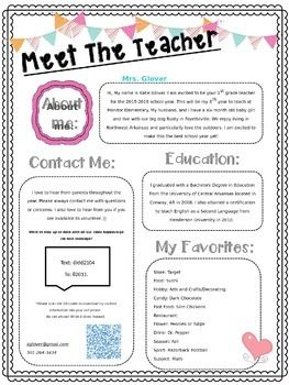 letter template meet the teacher examples  meet the teacher letter templates - Makar.bwong.co