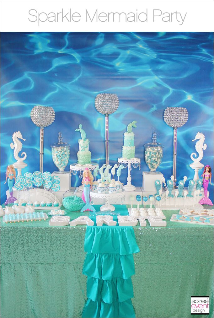 Mermaid Tail Party Favor Set of Mermaid Party My Little Mermaid Under the Sea Party Mermaid Candy Cone Under the Sea Favor 6