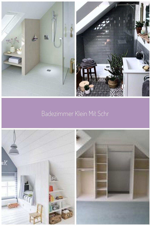 Badezimmer klein mit Schräge - #Badezimmer #Klein #Mit