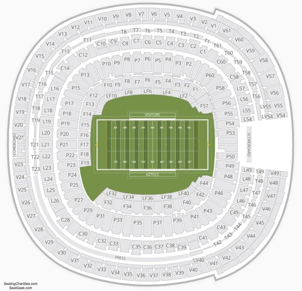 Awesome And Lovely Qualcomm Stadium Seating Chart Concert Di 2020