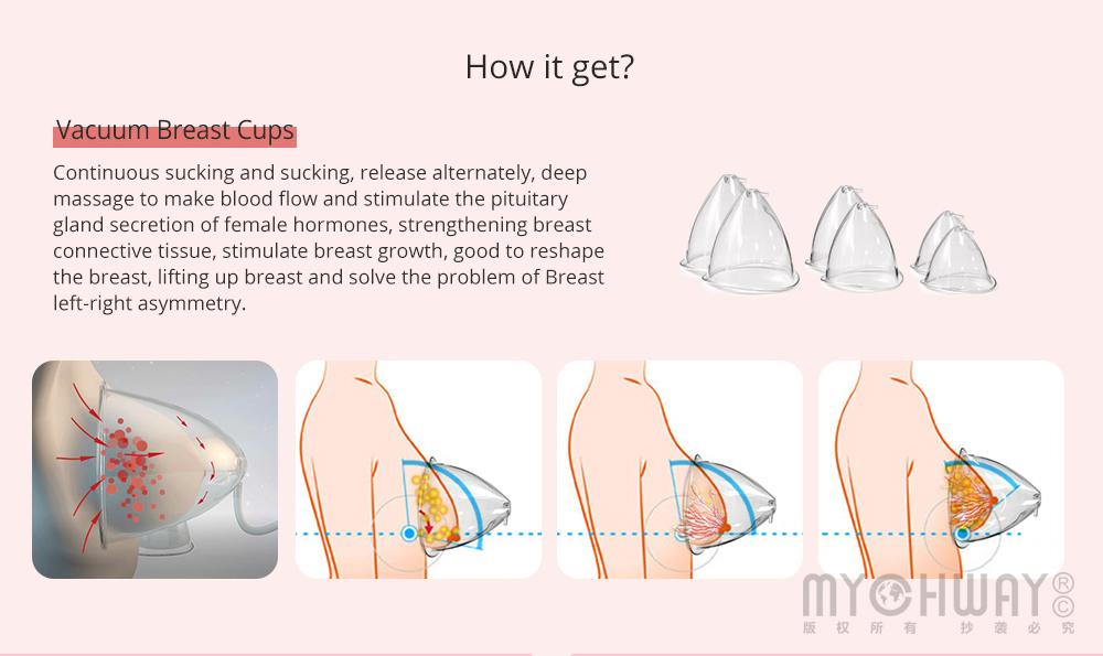 Vacuum Therapy Breast Enlargement Lymph Detox Breast Lifting Beauty Equipment CE