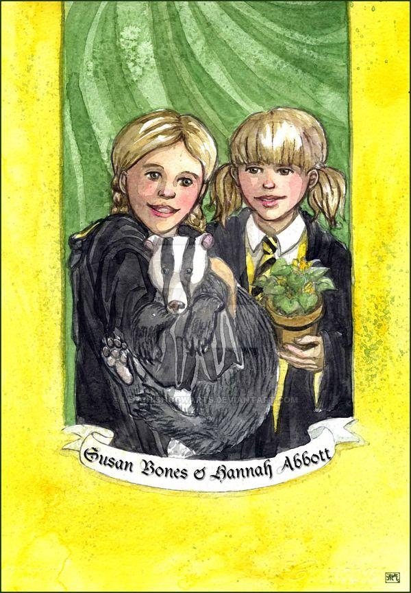 Susan Bones And Hannah Abbott Harry Potter Characters Harry Potter Fan Art Harry Potter Fandom
