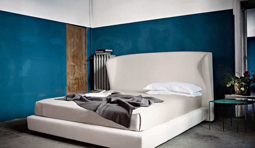 Lauren Bed, Design By Roberto Lazzeroni For Flexform Mood., Made In Italy.