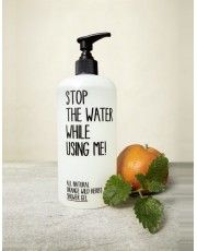 Stop water while using me