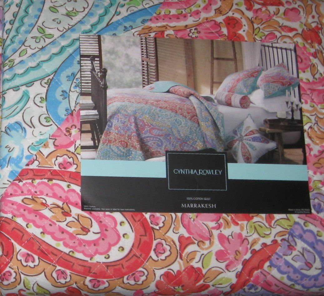 "Cynthia Rowley Home Decor Collection: Cynthia Rowley ""Marrakesh"" Twin Quilt"
