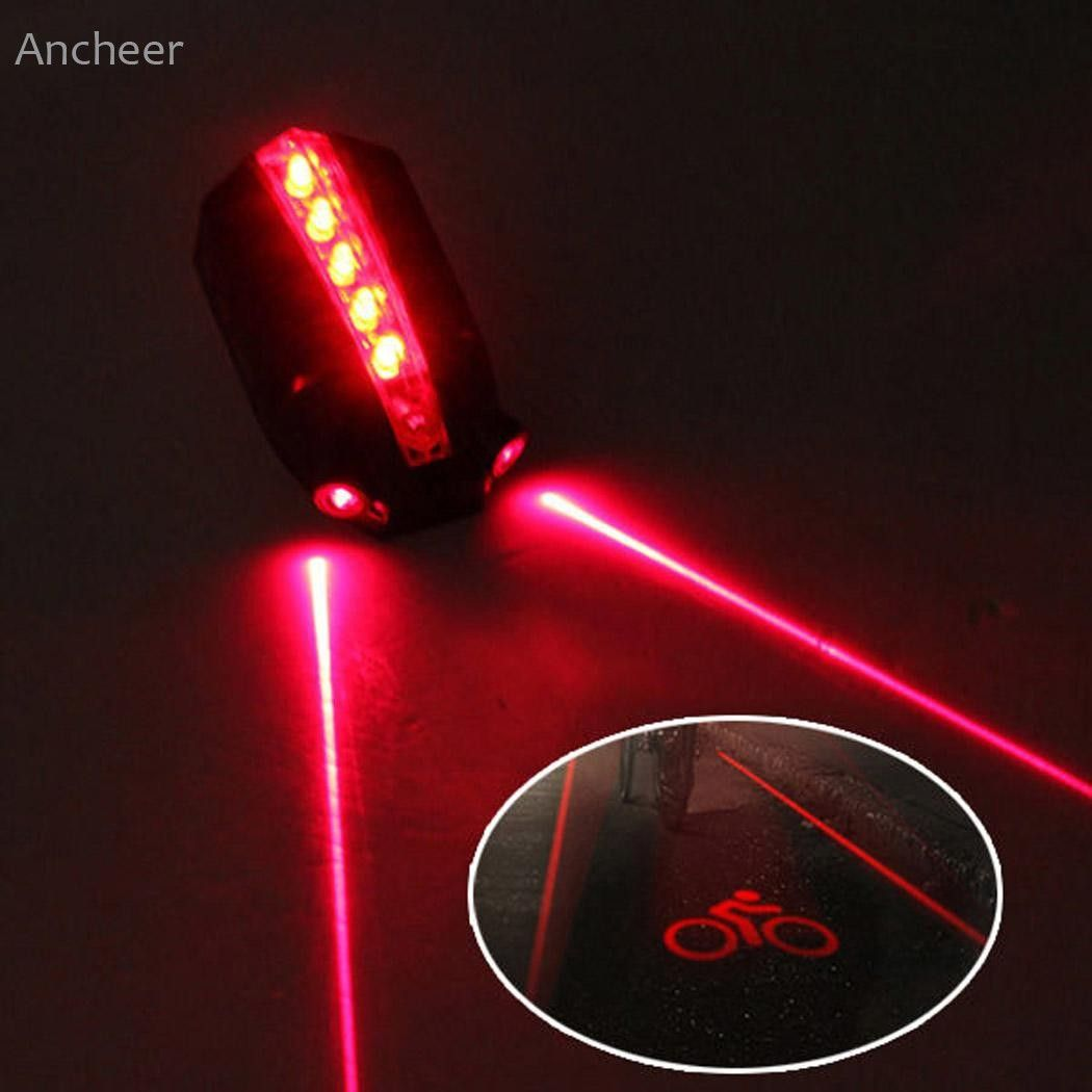 LOGO Projection Version Bicycle Rear Tail Lamp 5LED 2Laser Cycling Bike Light