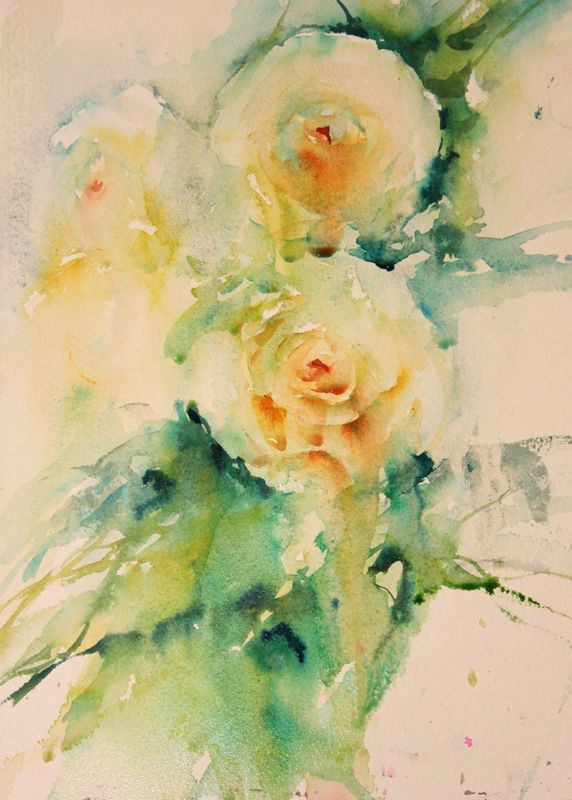 """""""Romance"""" Roses in watercolour"""