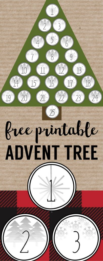 Christmas Advent Calendar Printable Numbers Calendar Printable