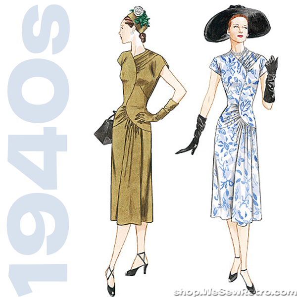 1940s Misses Dress Vintage Sewing Pattern by MissBettysAttic ...