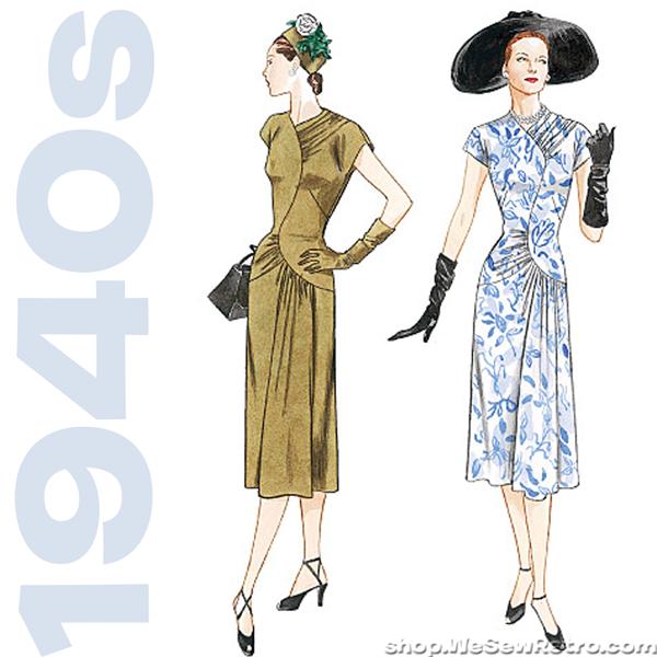 1940s Misses Dress Vintage Sewing Pattern by MissBettysAttic ...