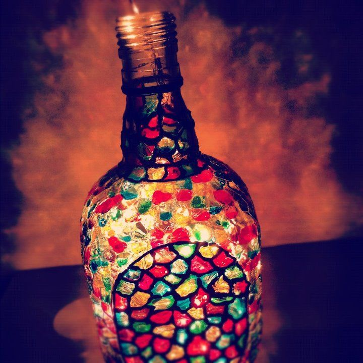 Absolutely gorgeous hand-painted old monk bottle | Beyond
