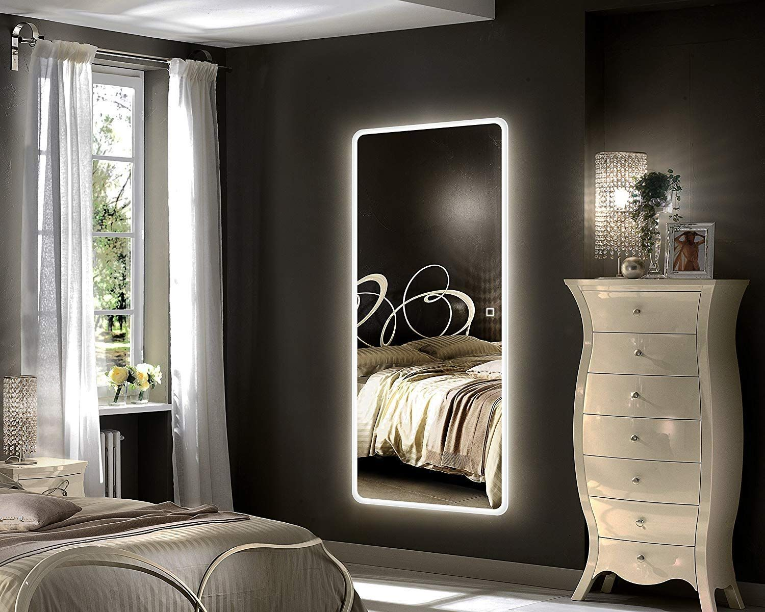 Elegant And Space Saving Led Wall Mirror Smallspaces Mirrors Bedroom Teens Bathroom H With Images Full Length Mirror In Bedroom Bedroom Mirror Mirror Wall Bedroom