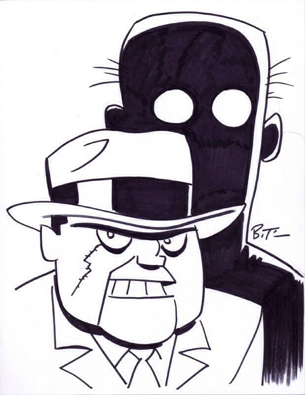 Scarface and The Ventriloquist Sketch by Bruce Timm   Bruce Timm ...