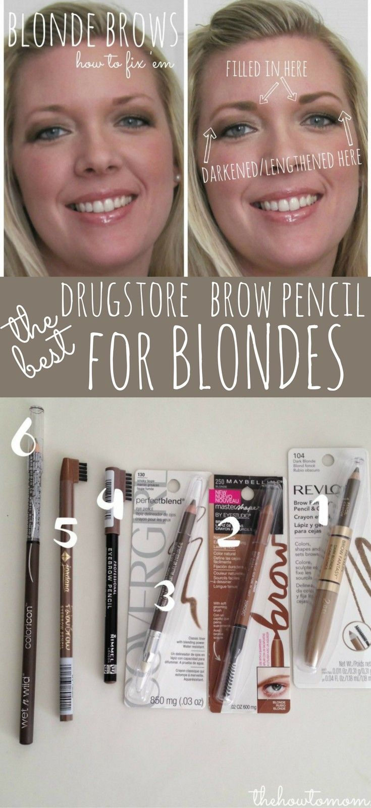 Makeup Tips: Best Drugstore Brow Pencil for Blondes | The ...