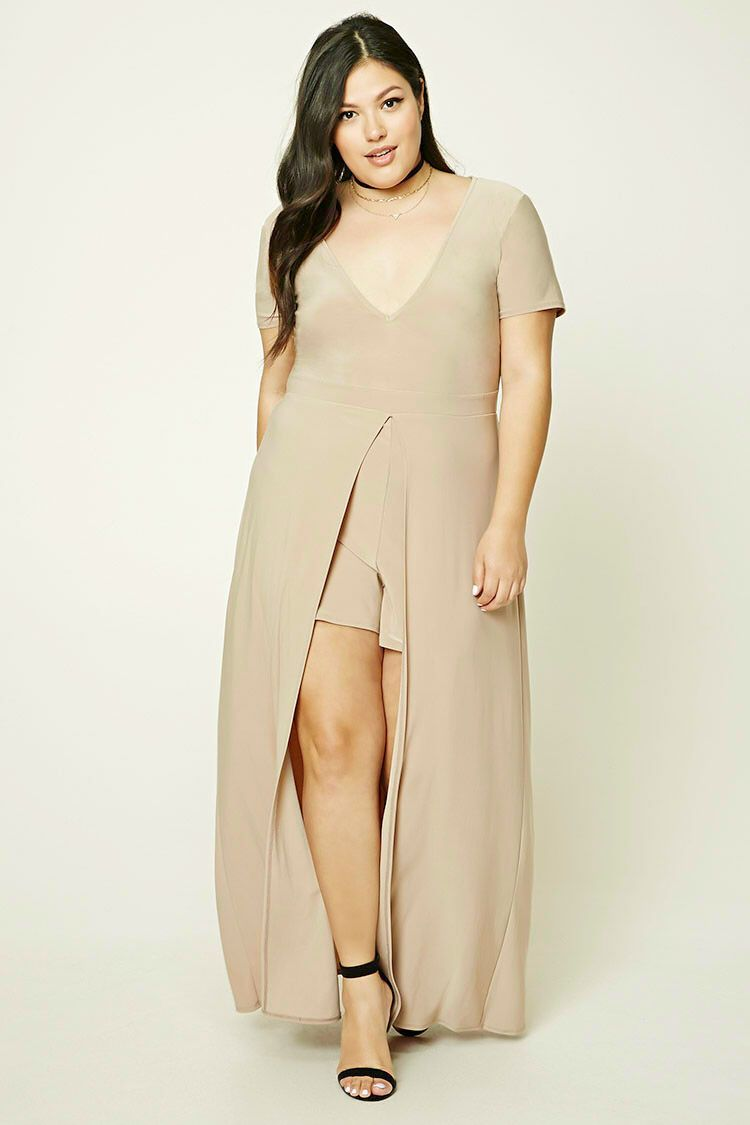 Plus size maxi skort romper dressing the curves pinterest
