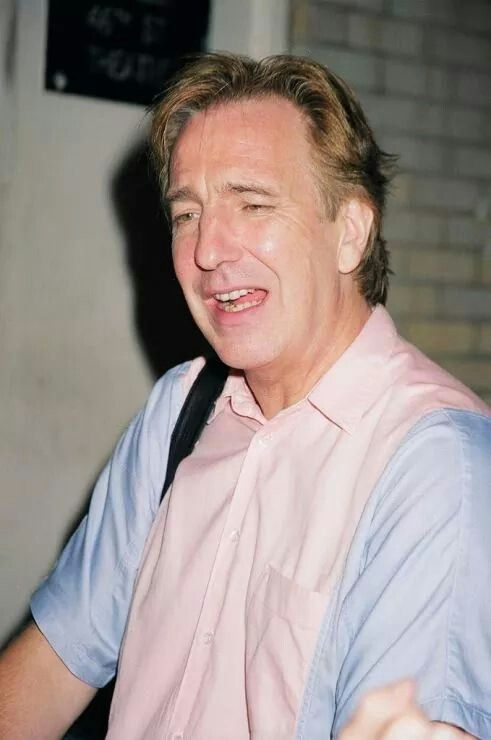 "2001 - Alan Rickman at the stage door for ""Private Lives."""