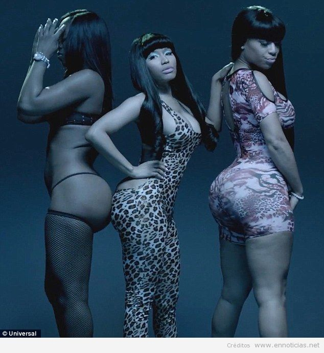 Girls half nicki minaj vagina sex timberlake