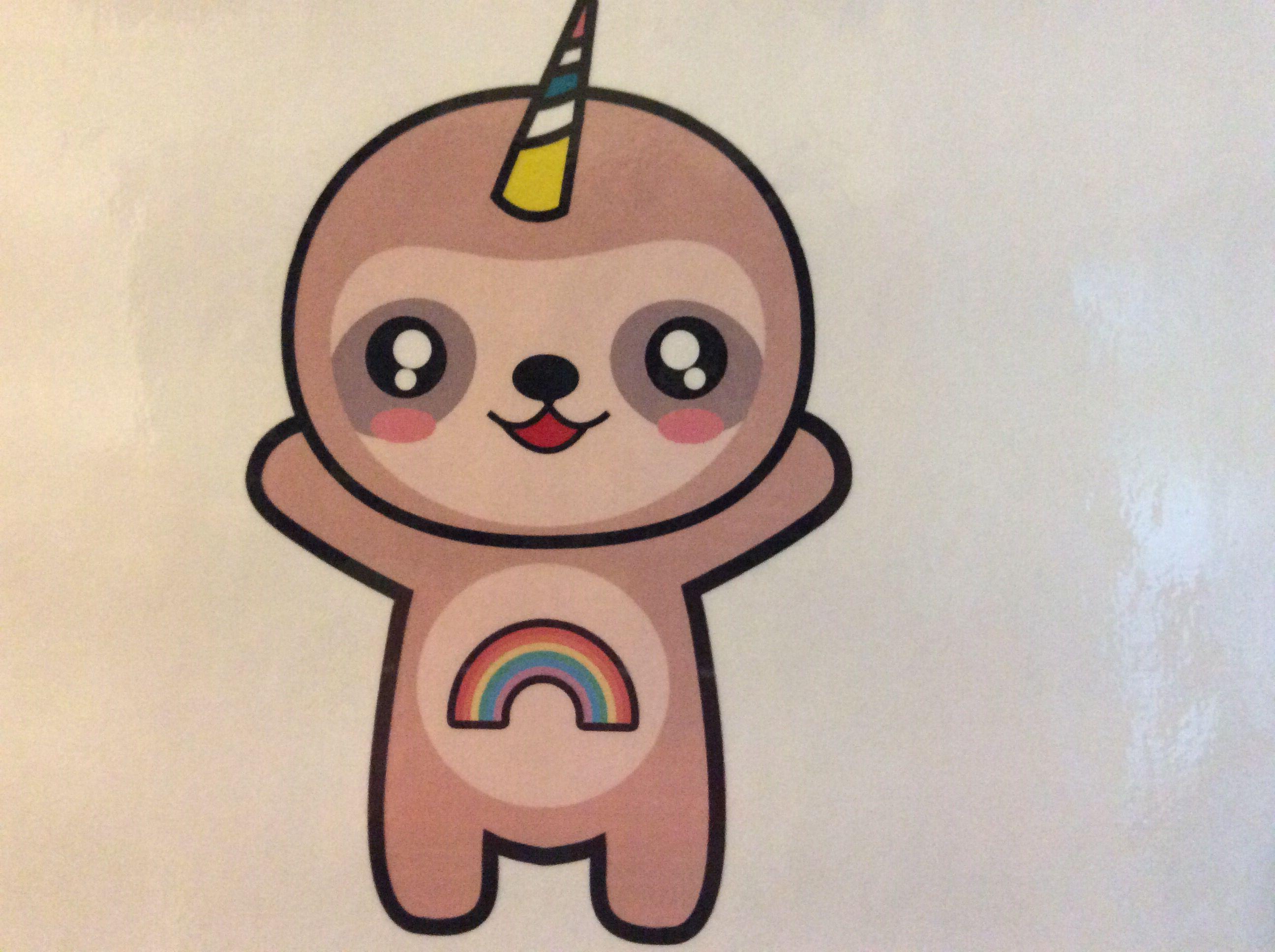Just Drew This Slothicorn Artist Sloth Birthday My Spirit Animal Spirit Animal